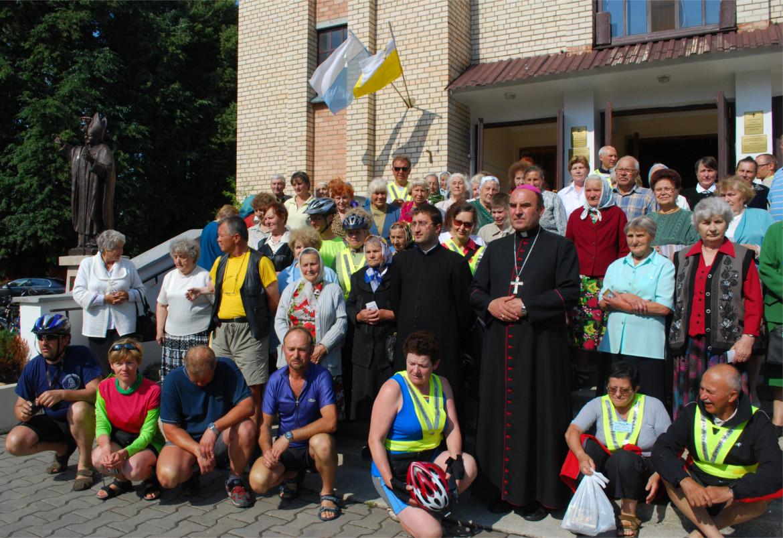 Spotkanie z biskupem, Mołodeczno, Białoruś